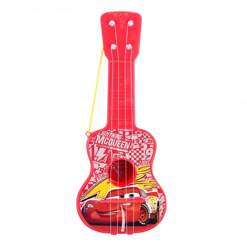 Chitară pentru copii cu 4 corzi, cu imagini din filmul Mașini  96050