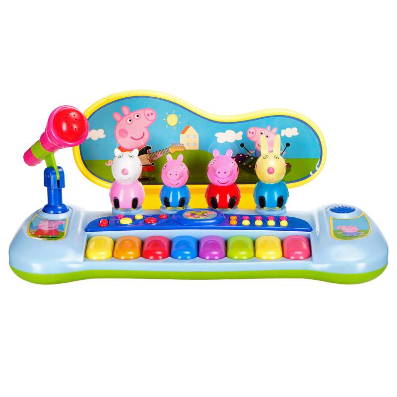 Pian electronic cu microfon și 8 clape colorate  96122