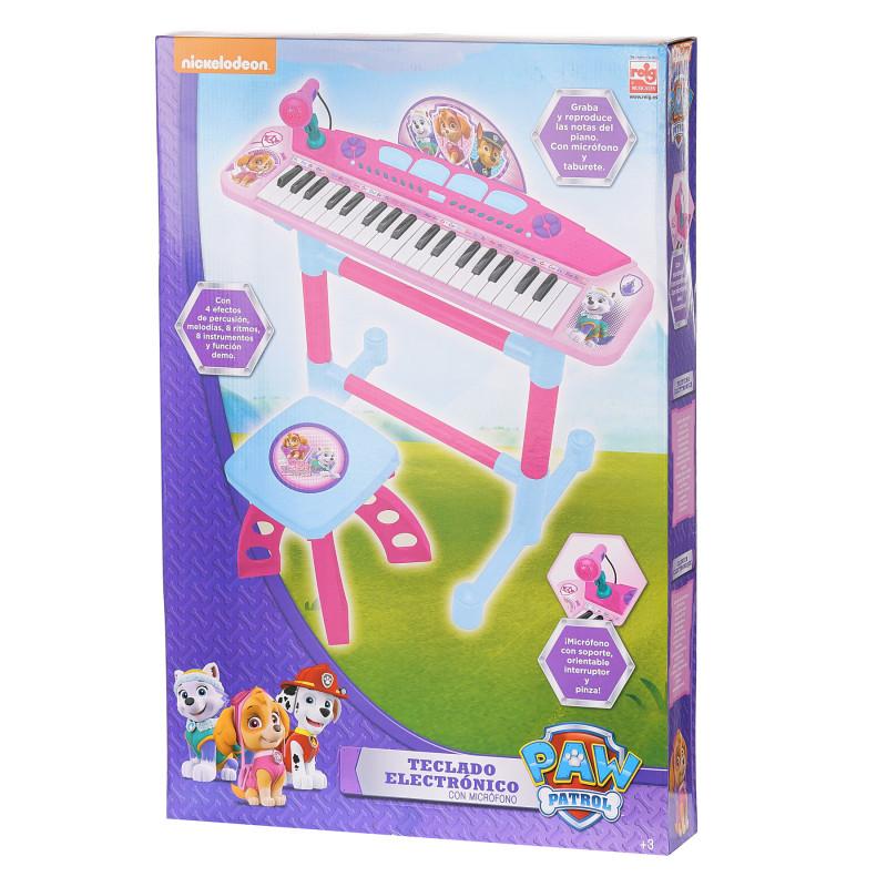 Pian electronic pentru copii, cu microfon și scaun  96135