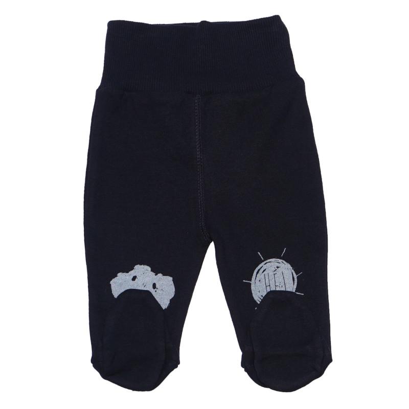 Pantaloni de bumbac cu aplic gri, pentru un băiat  96877