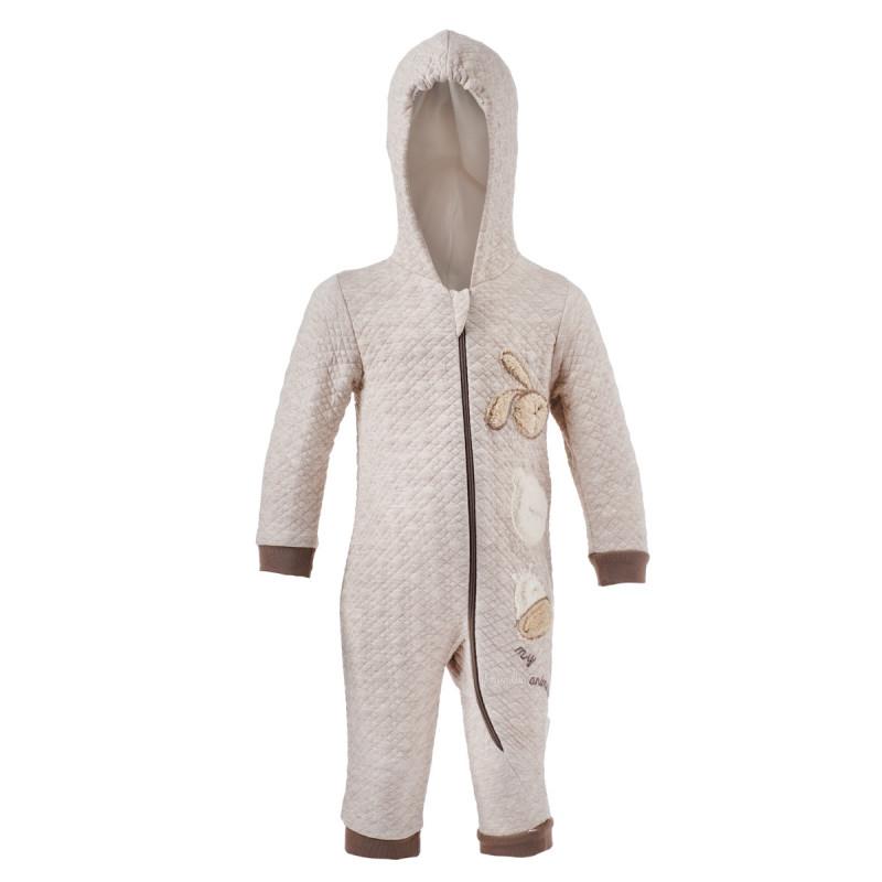 Salopetă cu glugă și mânecă lungă pentru un bebeluși - unisex  97544