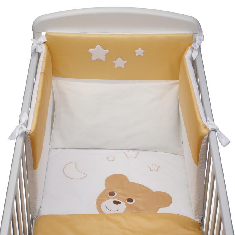 """Set """" Ursuleț și stele"""" de lenjerie de pat din 4 piese  97590"""