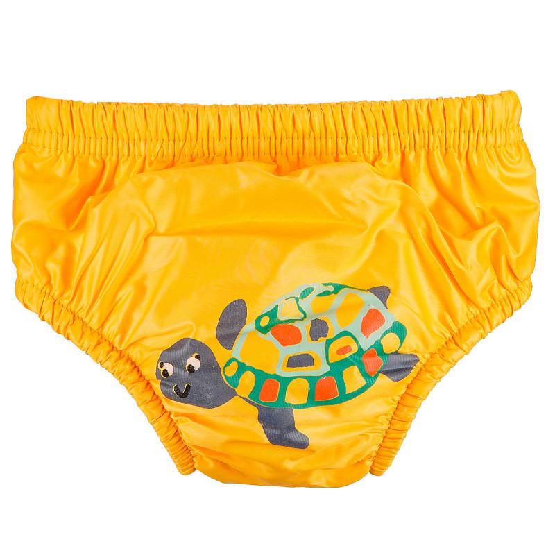 Costum de baie de dimensiuni M în galben cu imprimeu țestoasă pentru băieți care cântăresc între 12 și 14 kg.  97714