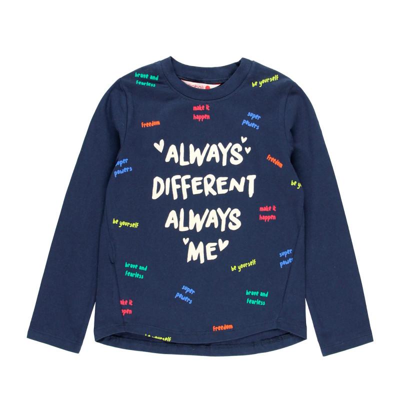 Bluză cu mâneci lungi și imprimeu, pentru fete  99152