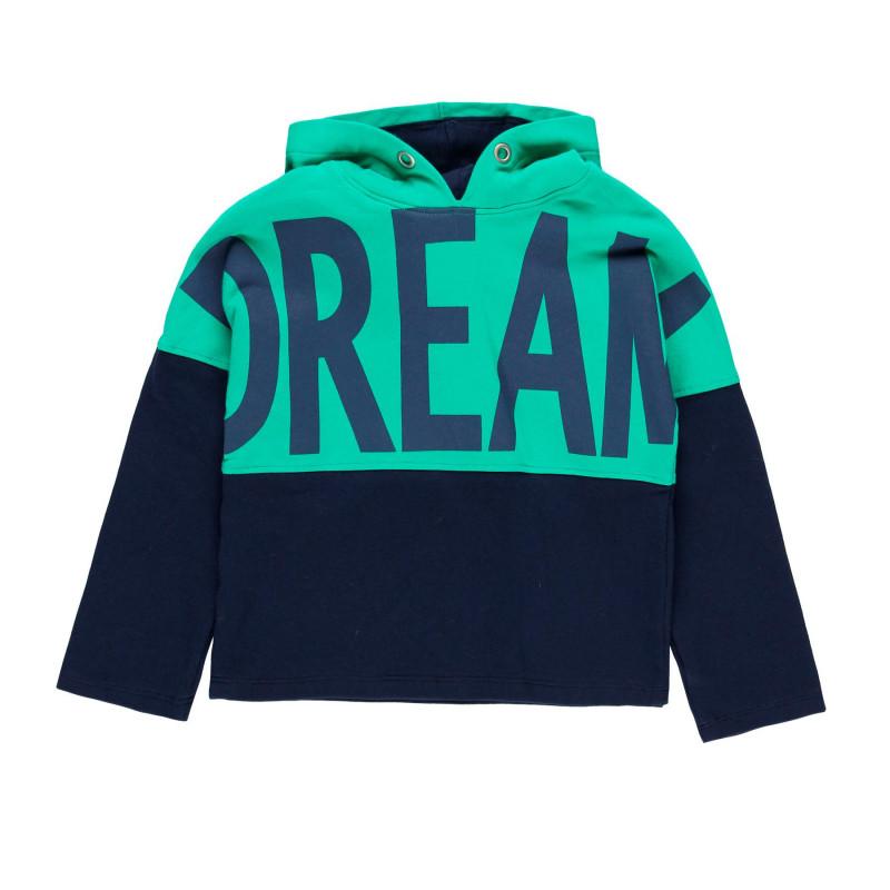 Pulover cu glugă pentru fete, cu imprimeu Dream  99171