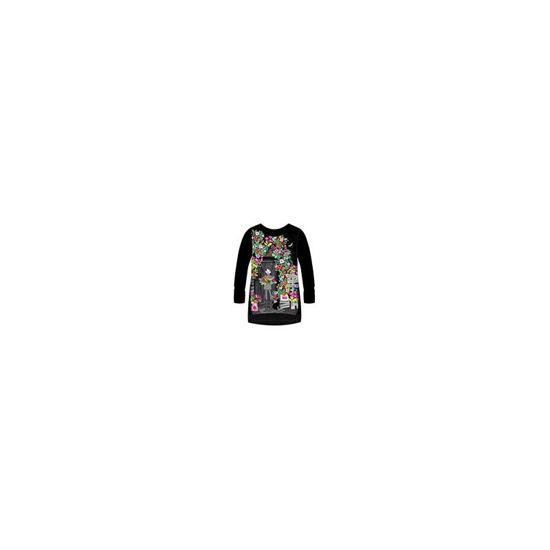 Rochie din bumbac cu mânecă lungă pentru fete  99193