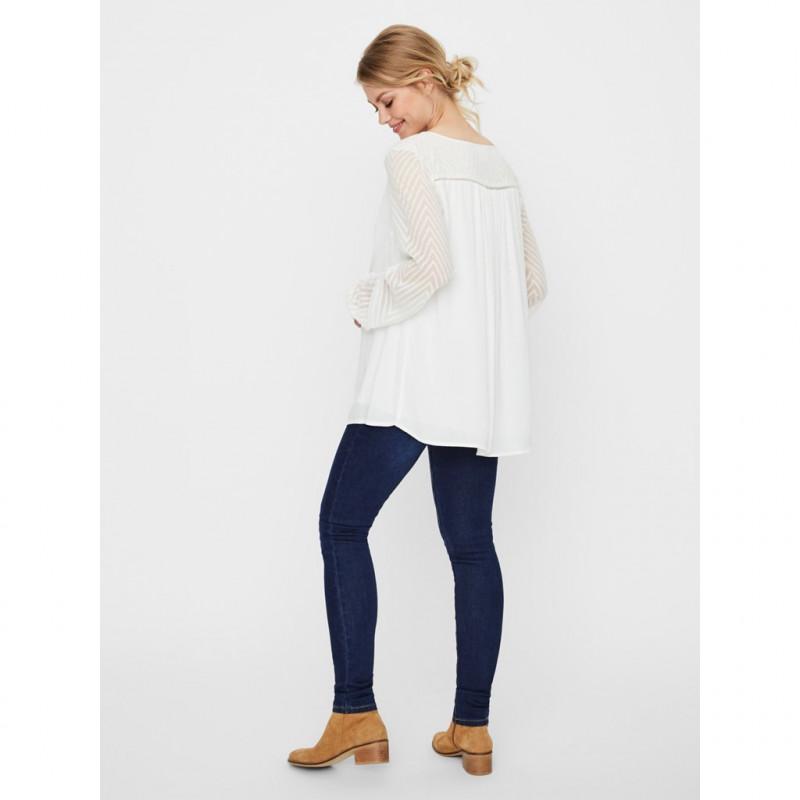 Bluză pentru femei însărcinate cu mâneci transparente  99595